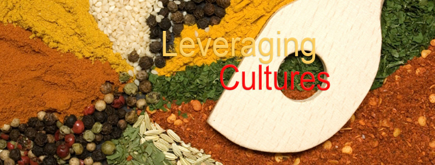 Spices representing the leveraging of cultures