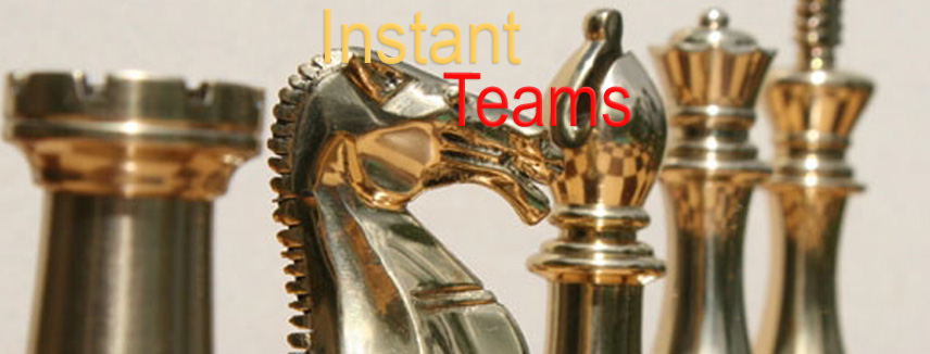 Instant Teams - chess pieces on a board